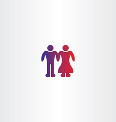 Bride and grooms boy couple icon vector