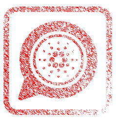 Cardano message balloon framed stamp vector