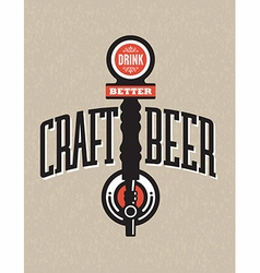 Craft beer design vector