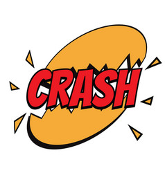 crash comic word vector image