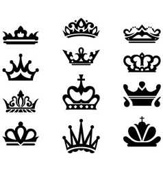 Crown collection vector