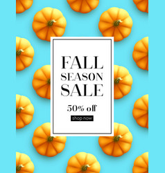 Design banner autumn sale fall poster design on vector