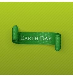 Earth day realistic scroll festive ribbon vector