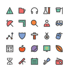 Education black outlined icons 5 vector