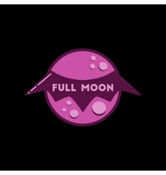 Flat icon on stylish background full moon bat vector