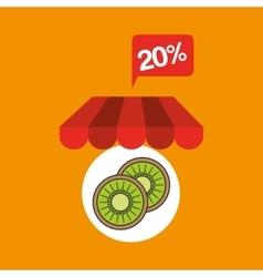 Fruit kiwi discount shop online icon vector