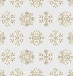 Gold snowflakes on a gray background vector image vector image