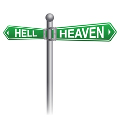Heaven and Hell Concept vector image vector image