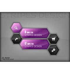 Hexagon Design vector image vector image