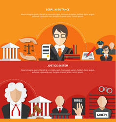 horizontal law banner set vector image vector image