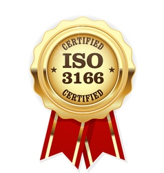 Iso 3166 standard rosette - country codes vector