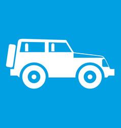 Jeep icon white vector