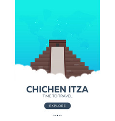 Mexico chichen itza time to travel travel vector