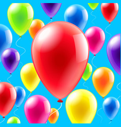 olorful balloons background vector image vector image