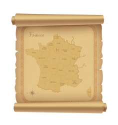 parchment map vector image