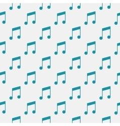 Pattern with music notes vector