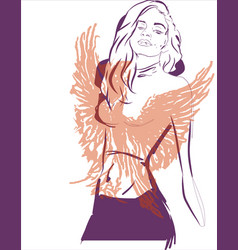 phoenix girl abstract concept vector image