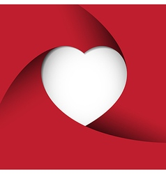 Red Heart paper background vector image