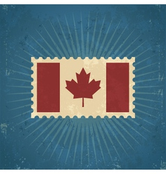 Retro Canada Flag Postage Stamp vector image vector image