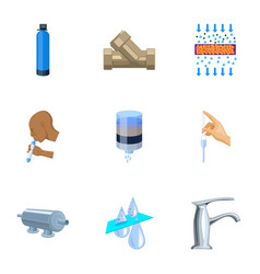 set of icons on the theme of water water is the vector image