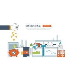 Smart investment finance market data analytics vector