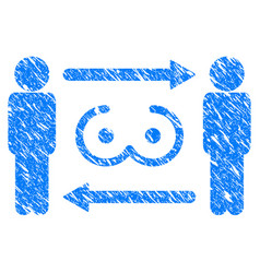 Swingers exchange grunge icon vector