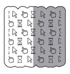 symbol computer set icon vector image vector image