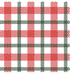 tartan green red seamless pattern vector image vector image