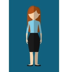 Woman faceless avatar icon image vector