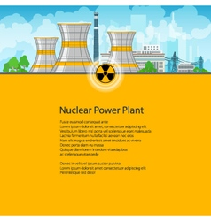 Poster nuclear power plant vector