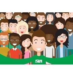 People Group Taking Selfie vector image