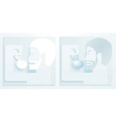 Men and apple vector
