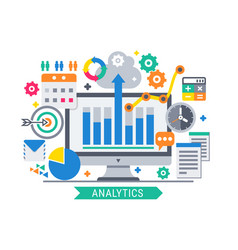 Analytics information tools vector