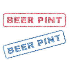 Beer pint textile stamps vector