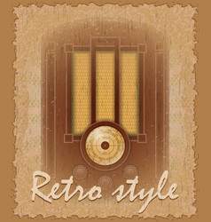 Retro style poster old radio vector