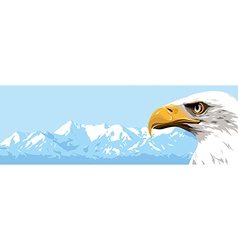 Mountains eagle vector