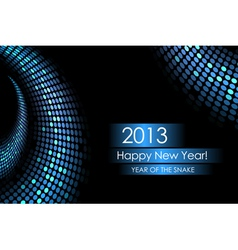 2013 water snake card vector image