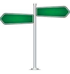 Pole sign road blank isolated vector