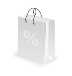 The white bag labeled persent isolated vector