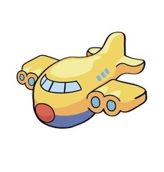 A cute cartoon airplane vector