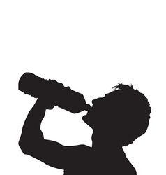 Drink water silhouette vector