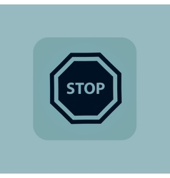 Pale blue stop sign icon vector