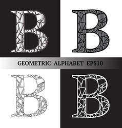 B geometric alphabet vector