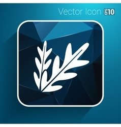 Arugula foliage logo element icon food vegetarian vector