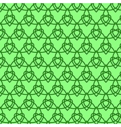 Celtic seamless pattern colored with green vector