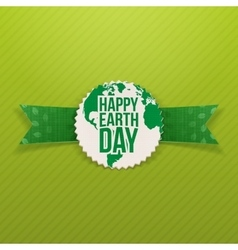 Happy earth day paper emblem vector