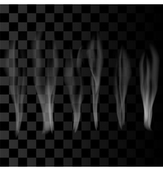 Smoke set on checkered background vector