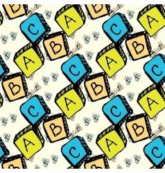 Abc blocks seamless pattern vector