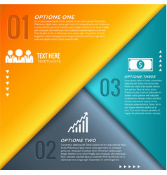 Abstract business geometric infographics vector