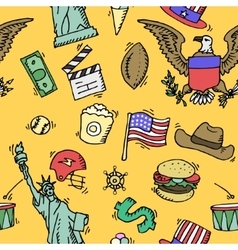 American Doodle set color pattern vector image vector image